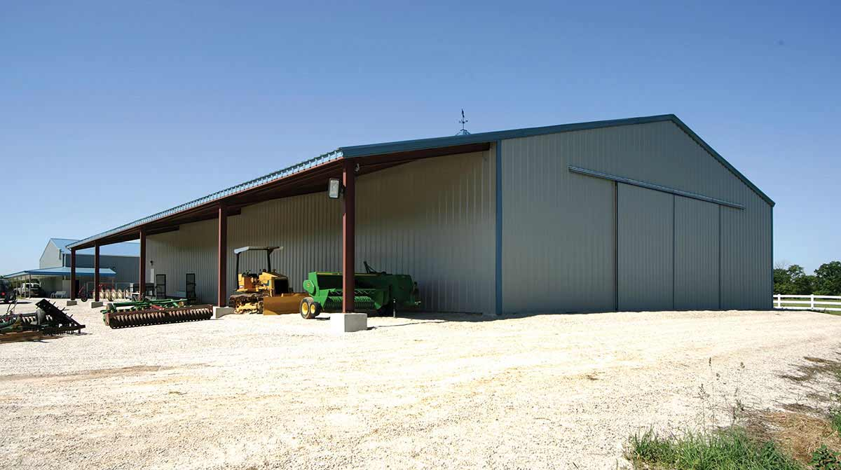 Agricultural maintenance building by allied steel buildings