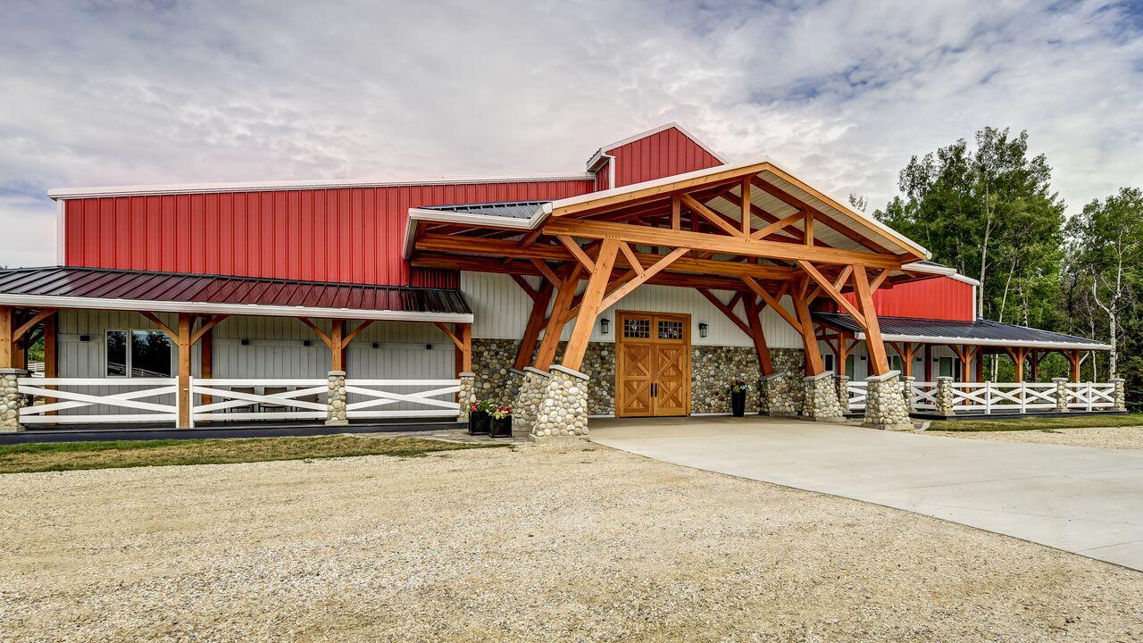Valleyfield Farm, 100x200 Equestrian Indoor Riding Arena located in Alberta, Canada