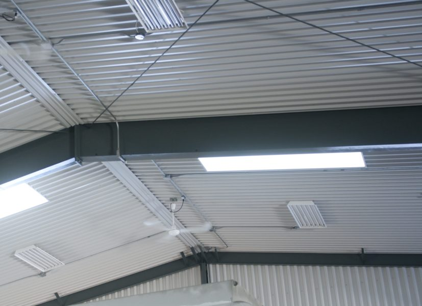Steel building skylights