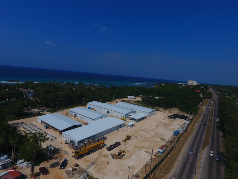 Multiple back of house steel buildings for commercial resort, Montego Bay, Jamaica