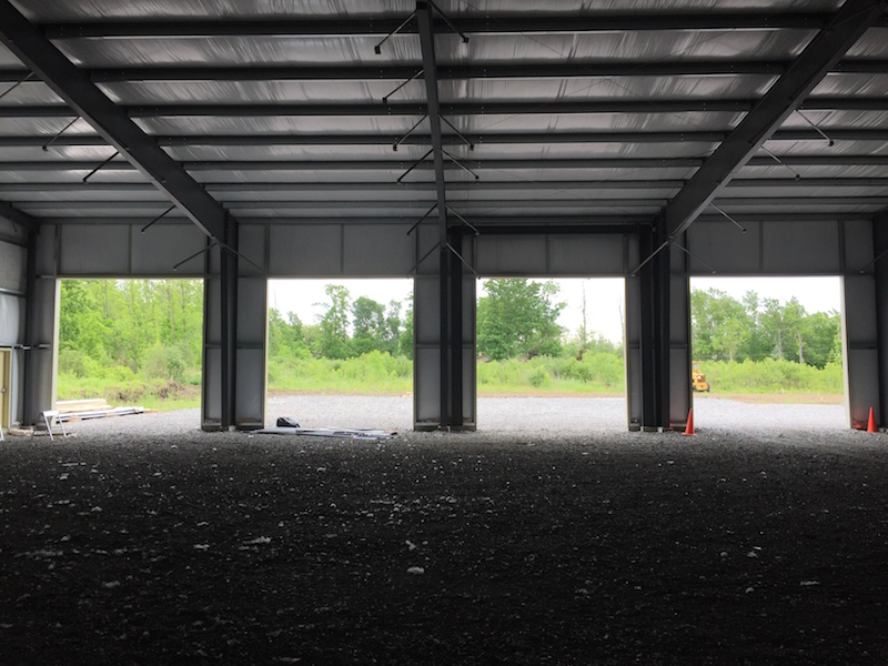 steel building with framed openings, Truck Repair Shop NY