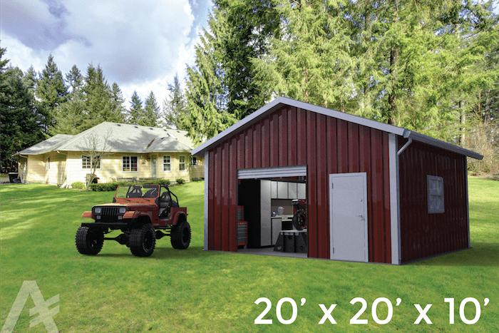 20x20x10 steel building shop series steel building garage