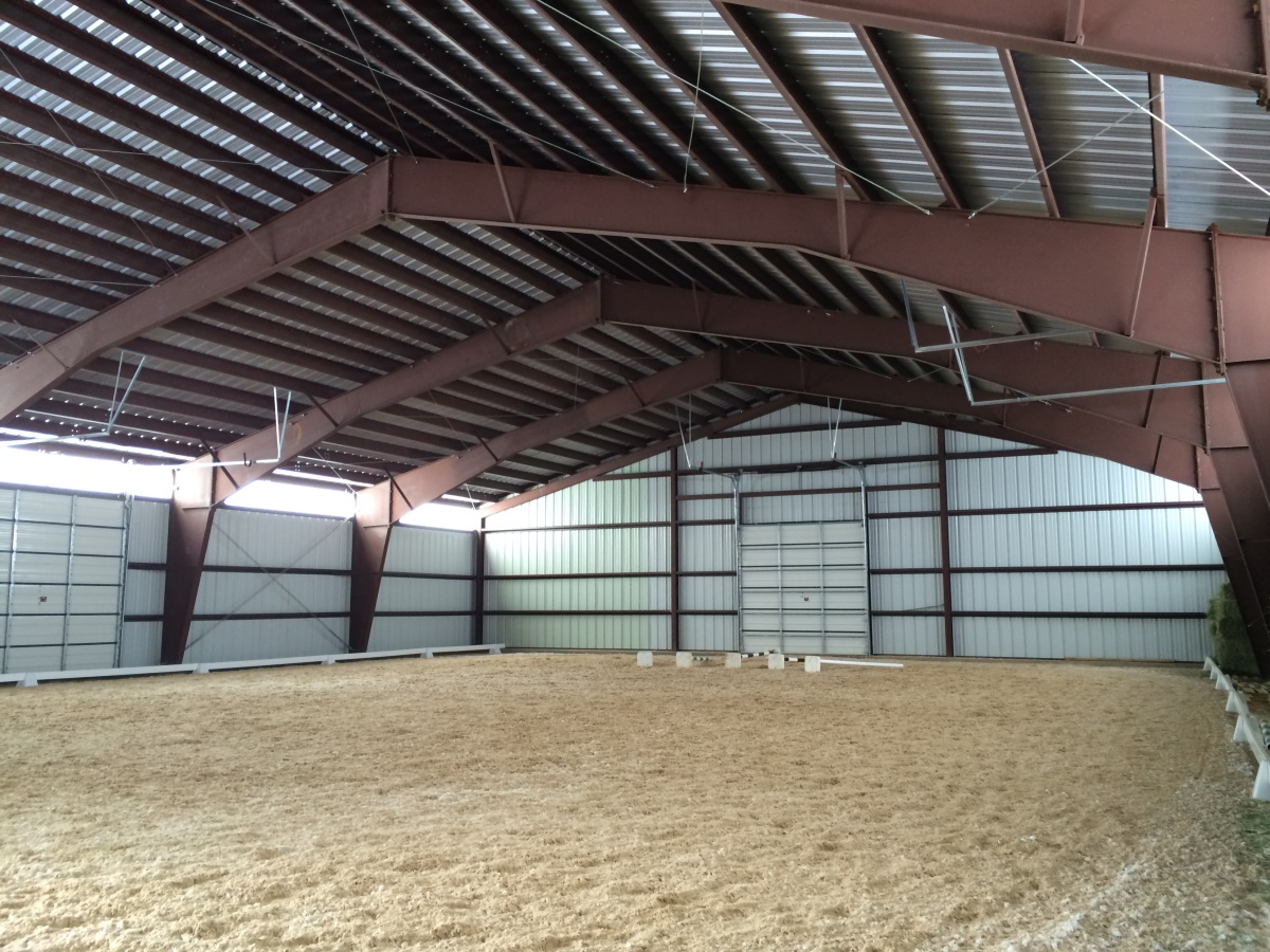 Indoor Steel Building Riding Arena located in Utah