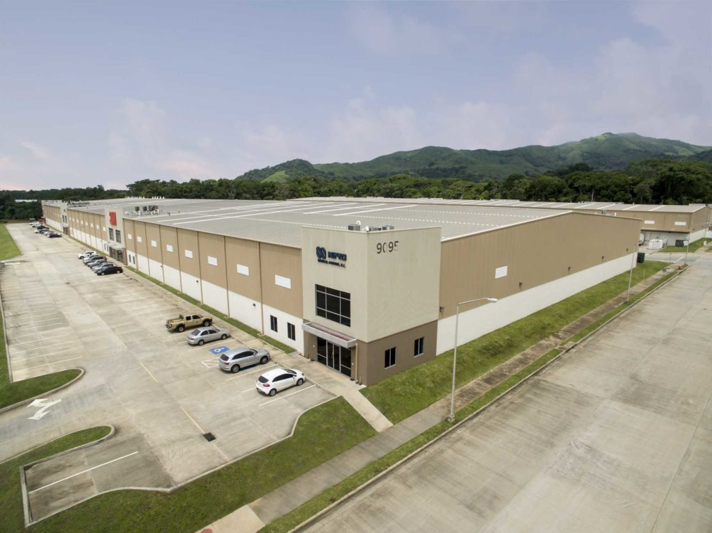 Prefab Steel Building. Commercial Industrial Warehouse And Office Space located in Panama Pacifico, Panama,