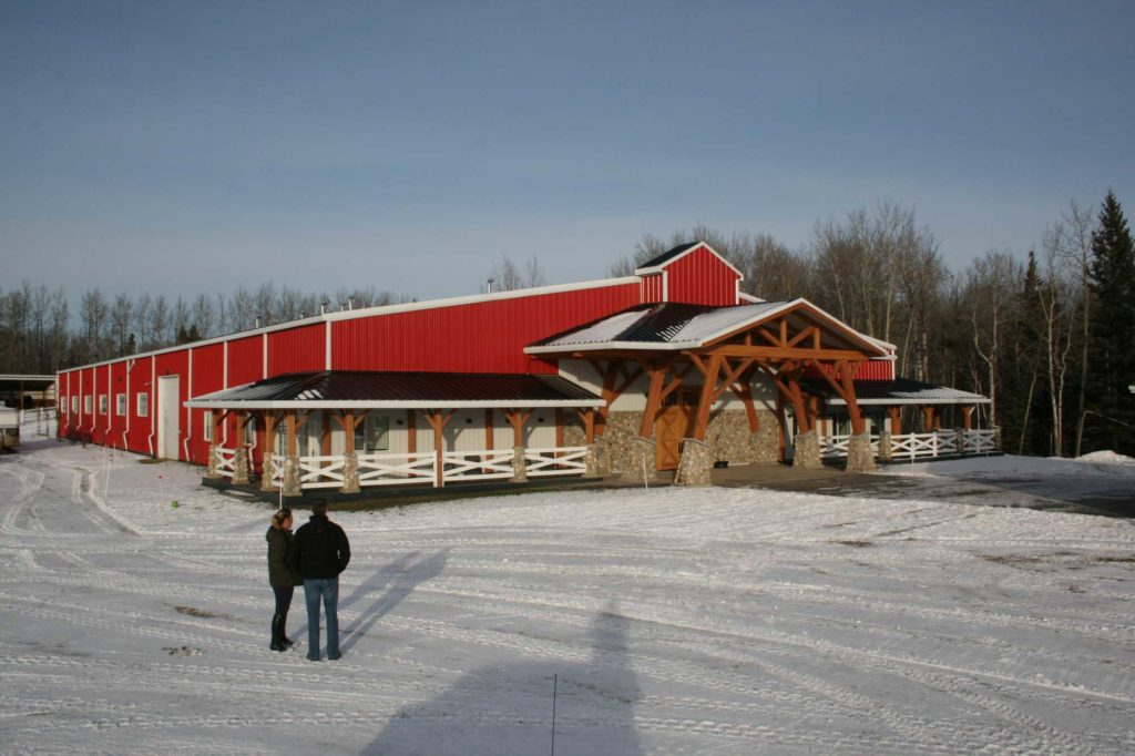 Valleyfield Farm, 100x200 Equestrian Riding Arena located in Alberta, Canada