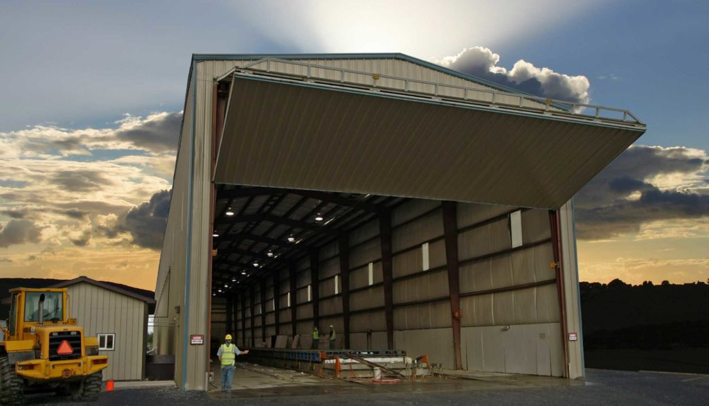 Prefabricated Industrial Workshop. 50x350 located in Mahon City, Pennsylvania.
