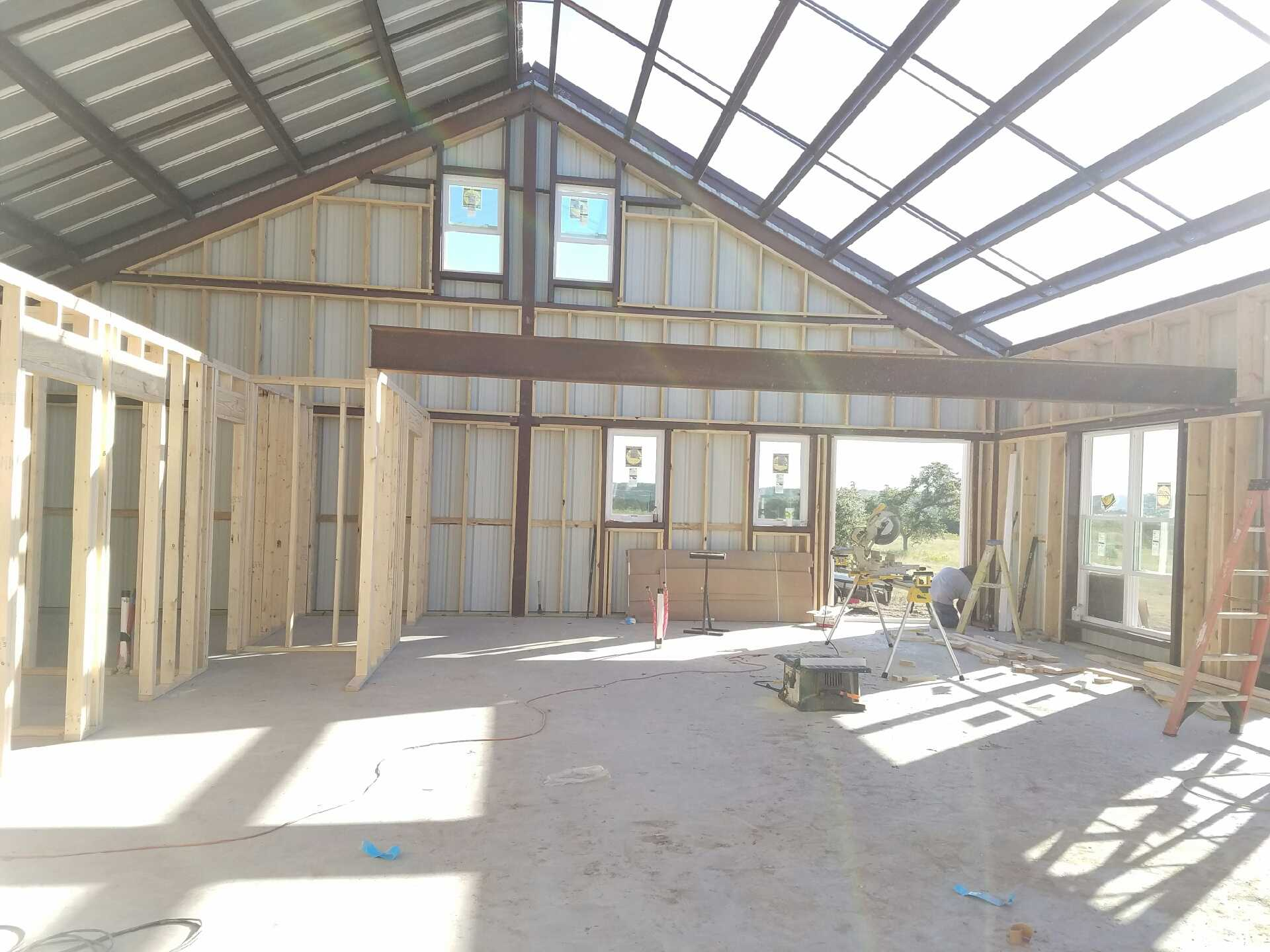 40x60 Steel Building Workshop located in Cleburne, TX