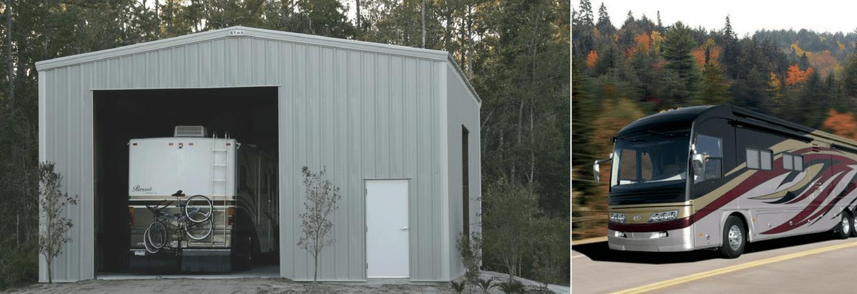 RV Garage, Steel building garage