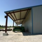 Beige 60x115-Agricultural steel building located in Bridgewater Pennsylvania