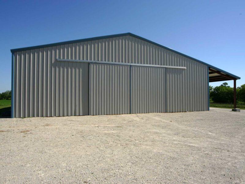 Beige 60x115-Agricultural steel building located in Bridgewater Pennsylvania