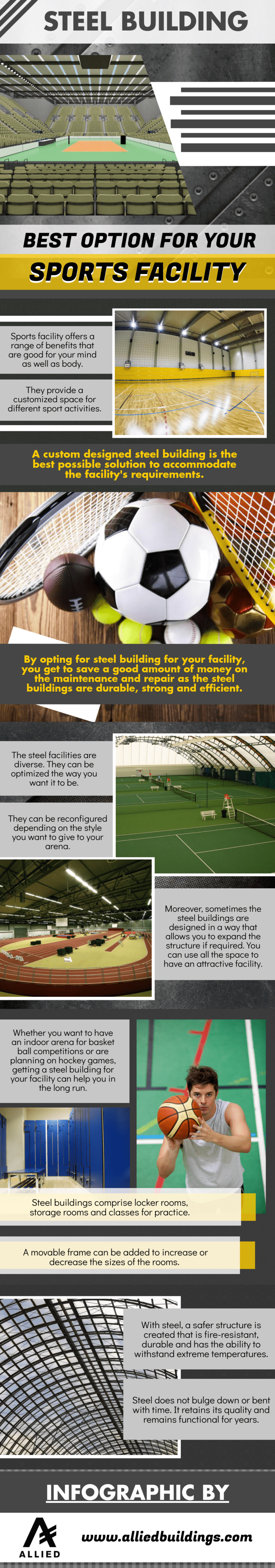 Steel building for a Sports Facility
