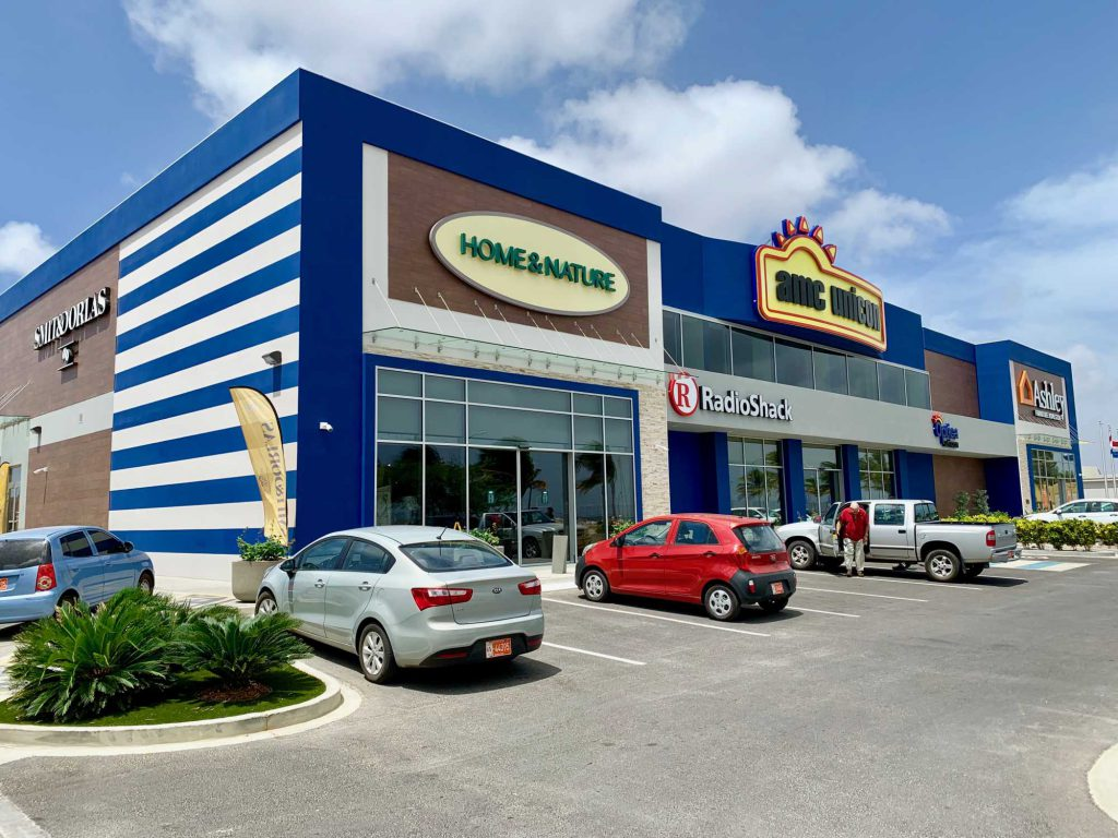 retail commercial steel building with traditional building material façade
