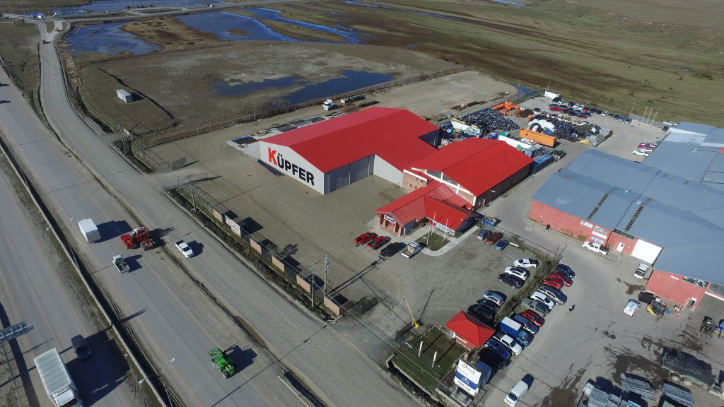 Punta Arenas, Chile-located storage warehouse made from Allied steel building kits