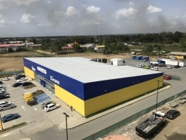 unicomer courts store warehouse steel building
