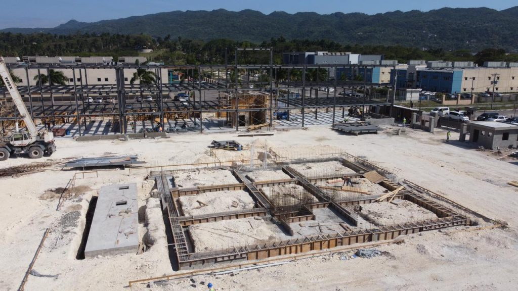 Steel Building Under Construction, Jamaica