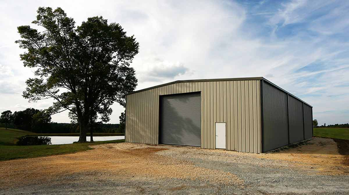 Metal storage for equipment storage in rural areas.