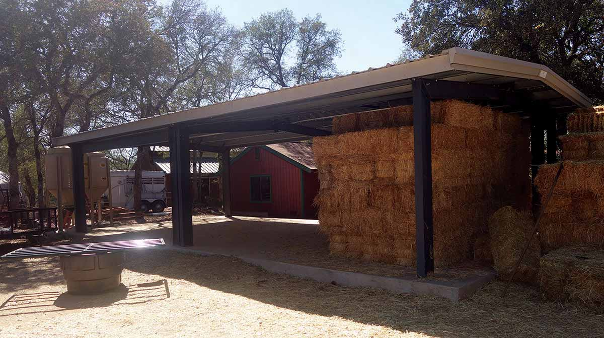 Hay Storage Canopy by Allied Steel Buildings