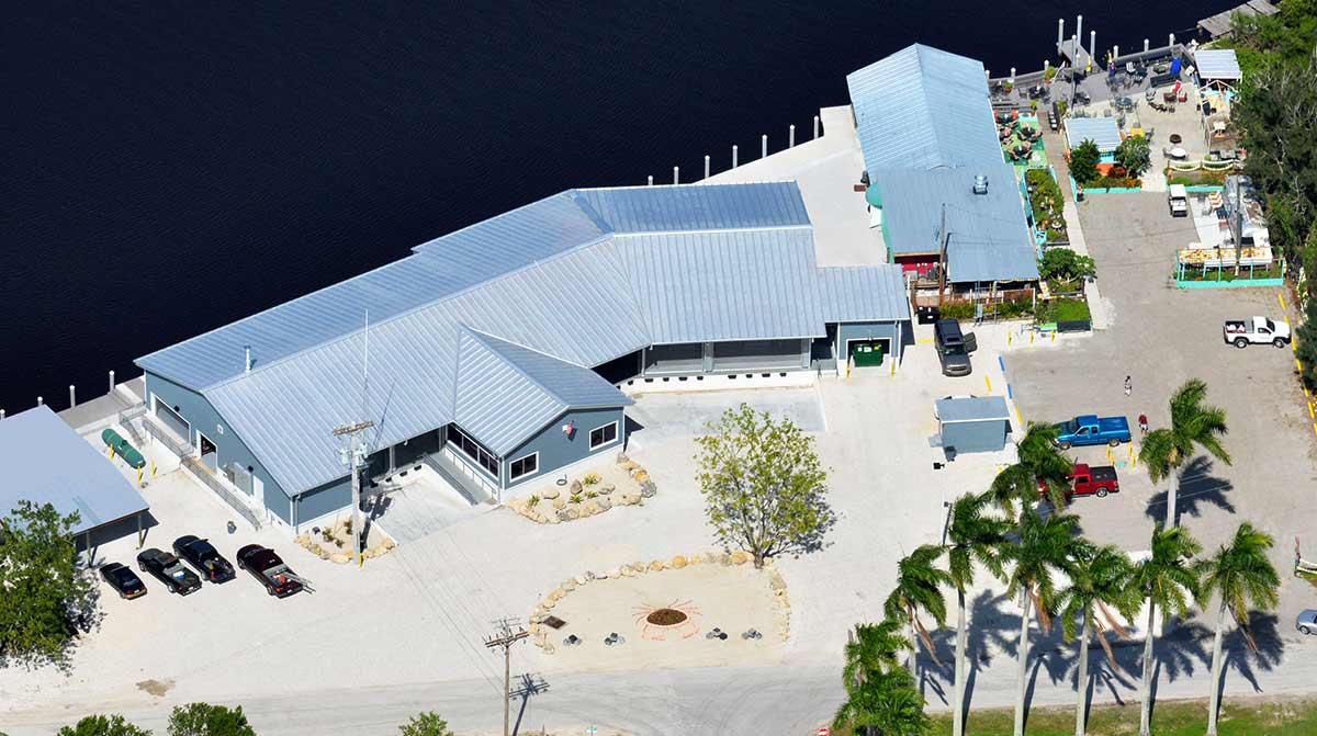 Aerial view of Commercial Building Hamilton Fishery