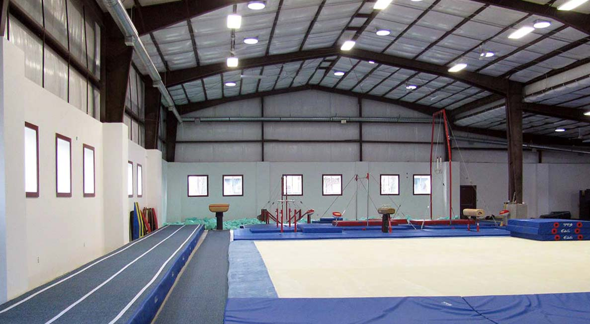 Internal view of Recreational Building Gymnasium