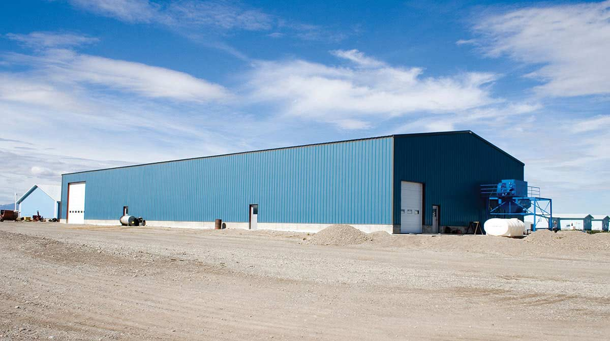 Metal buildings for mining operations